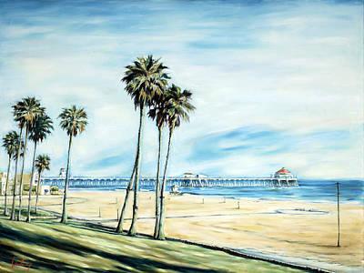 Huntington Beach Painting - Huntington Beach Pier by Ivailo Boliarov