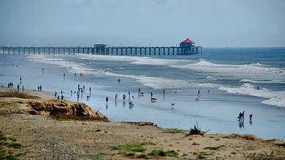 Art Print featuring the photograph Huntington Beach Pier by Joseph Hollingsworth