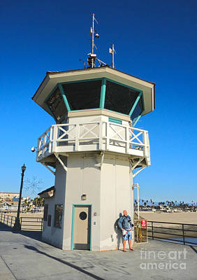 Huntington Beach Pier Lifeguard Tower Art Print by Gregory Dyer