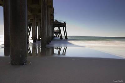 Huntington Beach Pier - Looking Out Print by Heidi Smith
