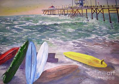 Huntington Beach Painting - Huntington Beach Pier by Ordy Duker