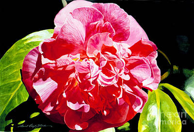 Painting - Huntington Camelia by David Lloyd Glover