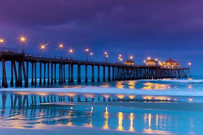 Huntington Beach California Photograph - Huntington Dawn by Sean Davey