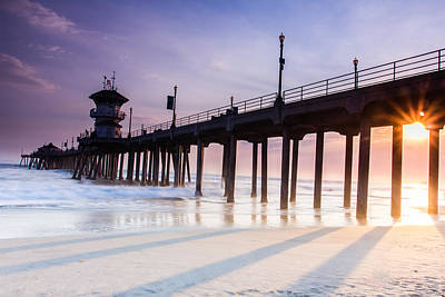 Huntington Pier Art Print