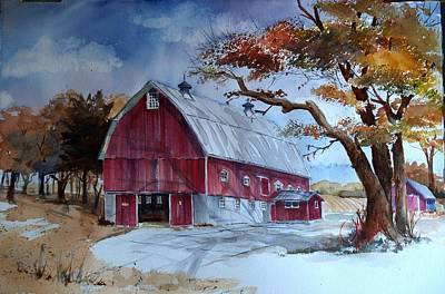 Painting - Huntley Farm by Gerald Miraldi