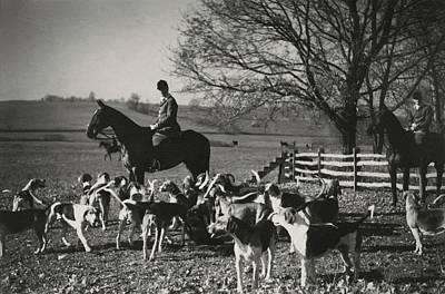 Farm Scenes Photograph - Huntsman Alfred Smithwick Sitting On His Horse by Toni Frissell