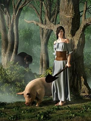 Huon The Truffle Hog Art Print by Daniel Eskridge