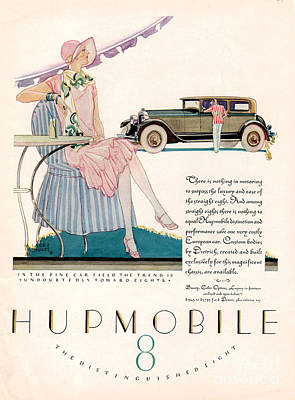 Hupmobile 1927 1920s Usa Cc Cars Art Print by The Advertising Archives