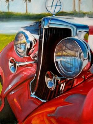 Painting - Hupmobile by Kaytee Esser