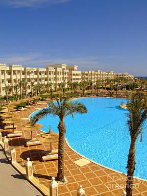 Pool Break Photograph - Hurghada Hotel 09 by Antony McAulay