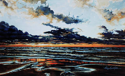Waterscape Painting - Huron by Hanne Lore Koehler
