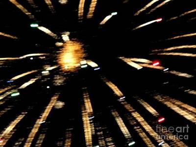 Mixed Media - Huron Ohio Fireworks 10 by Jackie Bodnar