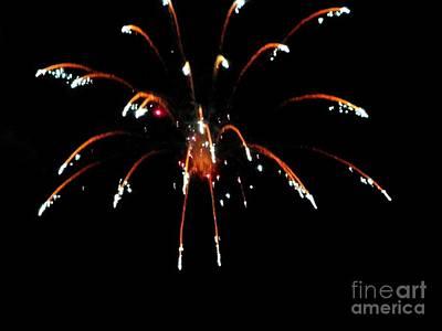 Mixed Media - Huron Ohio Fireworks 11 by Jackie Bodnar