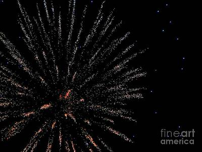 Mixed Media - Huron Ohio Fireworks 14 by Jackie Bodnar