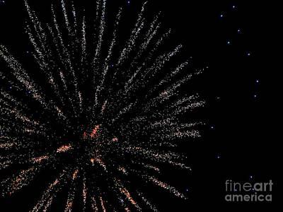 Mixed Media - Huron Ohio Fireworks 14 by Jackie Bodnar