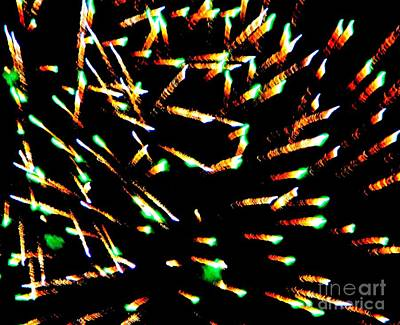 Mixed Media - Huron Ohio Fireworks 15 by Jackie Bodnar
