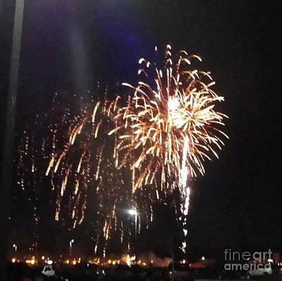 Photograph - Huron Ohio Fireworks 2 by Jackie Bodnar