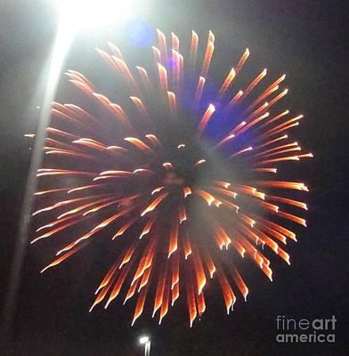 Mixed Media - Huron Ohio Fireworks 5 by Jackie Bodnar