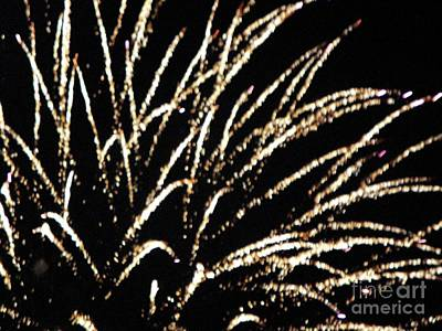 Mixed Media - Huron Ohio Fireworks 9 by Jackie Bodnar