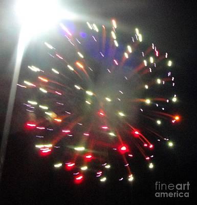 Mixed Media - Huron Ohio Fireworks1 by Jackie Bodnar