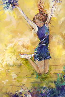 Stunt Flyer Painting - Hurrah by Karen Ahuja