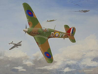 Painting - Hurricane 1940 by James Lawler