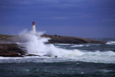 Photograph - Hurricane Arthur 2014 Hits Peggy's Cove by Gary Corbett