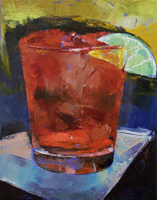 Impasto Oil Painting - Hurricane Cocktail by Michael Creese
