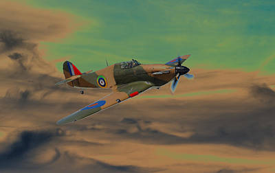 Hurricane Fighter Plane 2 Art Print