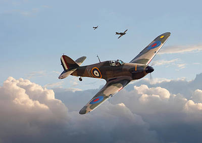 Hurricane - Fighter Sweep Art Print by Pat Speirs