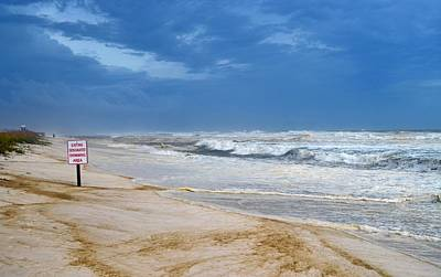 Photograph - Hurricane Isaac Impacts Navarre Beach by Jeff at JSJ Photography