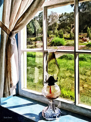 Photograph - Hurricane Lamp In A Sunny Window by Susan Savad