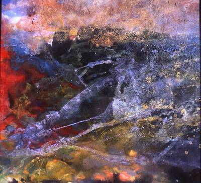 Pouring Mixed Media - Hurricane by Ming Franz