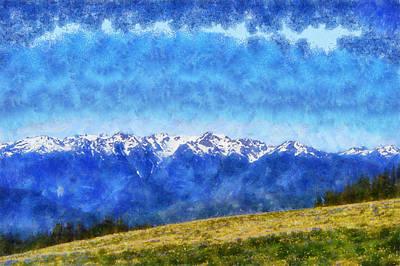 Olympic National Park Digital Art - Hurricane Ridge by Kaylee Mason