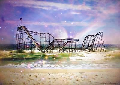 Hurricane Sandy Jetstar Roller Coaster Fantasy Art Print