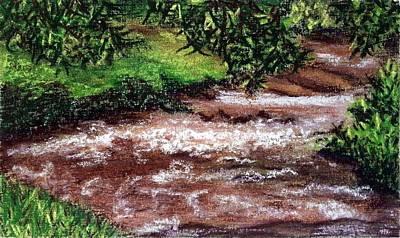 Painting - Hurricane Shoals Backwater by Brenda Stevens Fanning