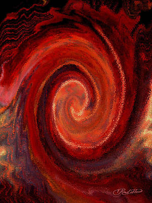 Afro Mixed Media - Hurricane by Vernon Rowlette
