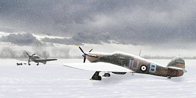 Hurricanes In The Snow Art Print