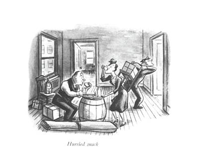 Snack Drawing - Hurried Snack by William Steig