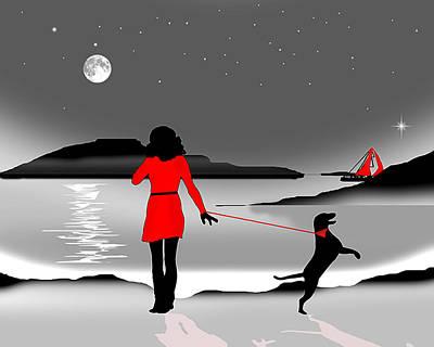 Hurry Back Darling Art Print by Peter Stevenson