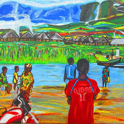 Hurry Up There - Ryan Giggs Tribute Art Print by Mudiama Kammoh