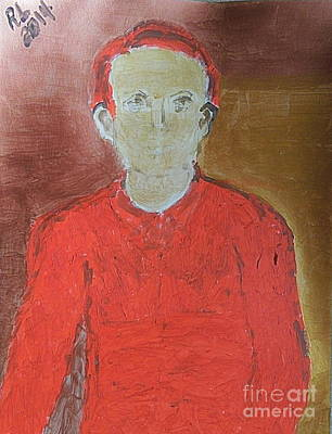 Painting - Golden Husband In Red Sweater 1 by Richard W Linford
