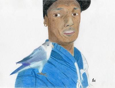 Lovebird Drawing - Husband With Lovebird by Bav Patel
