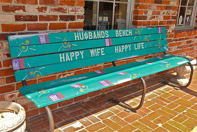 Photograph - Husband's Bench by Denise Mazzocco