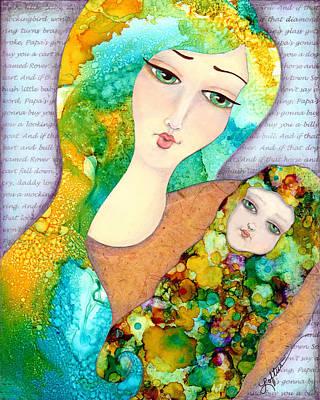 Bunting Mixed Media - Hush Little Baby by Joann Loftus