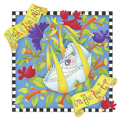 Nursery Rhyme Painting - Hush Little Baby by P.s. Art Studios
