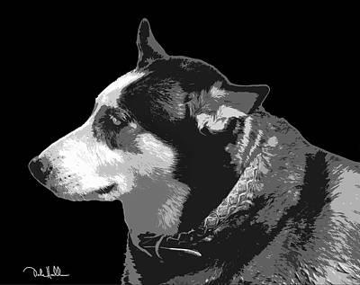 Husky Black And White Pop Art Original
