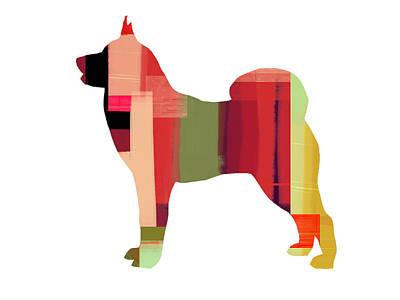Puppy Mixed Media - Husky by Naxart Studio