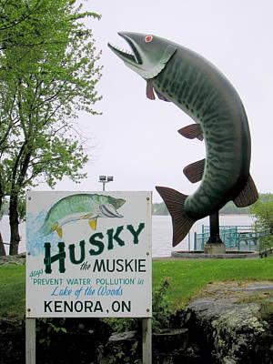 Muskie Photograph - Husky The Muskie by Betty-Anne McDonald