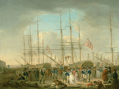 Hussars Embarking At Deptford, Kent Signed And Dated Print by Litz Collection